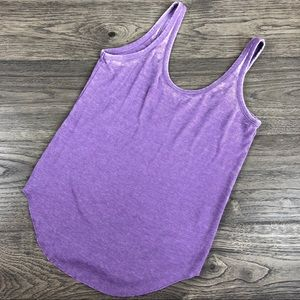 NWOT CHASER PURPLE TIBBED COTTON TANK TOP